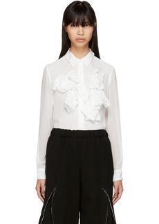 Comme des Garçons Off-White Ruffle Shirt