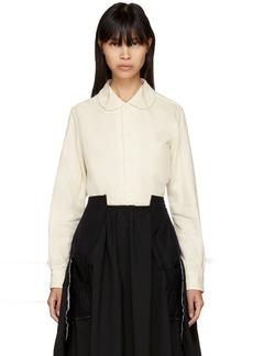 Comme des Garçons Off-White Sheer Layer Shirt