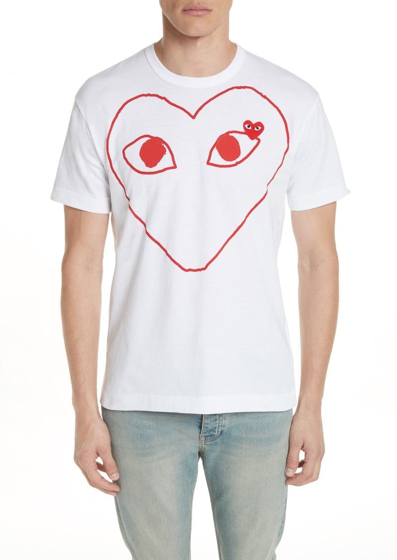 Comme des Garçons PLAY Outline Heart Graphic T-Shirt