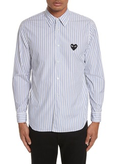 Comme des Garçons PLAY Black Heart Stripe Oxford Shirt