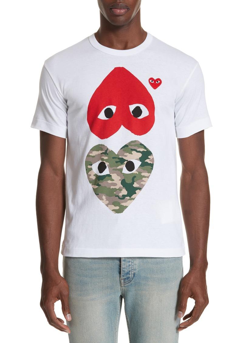 Comme des Garçons PLAY Camo Double Heart T-Shirt