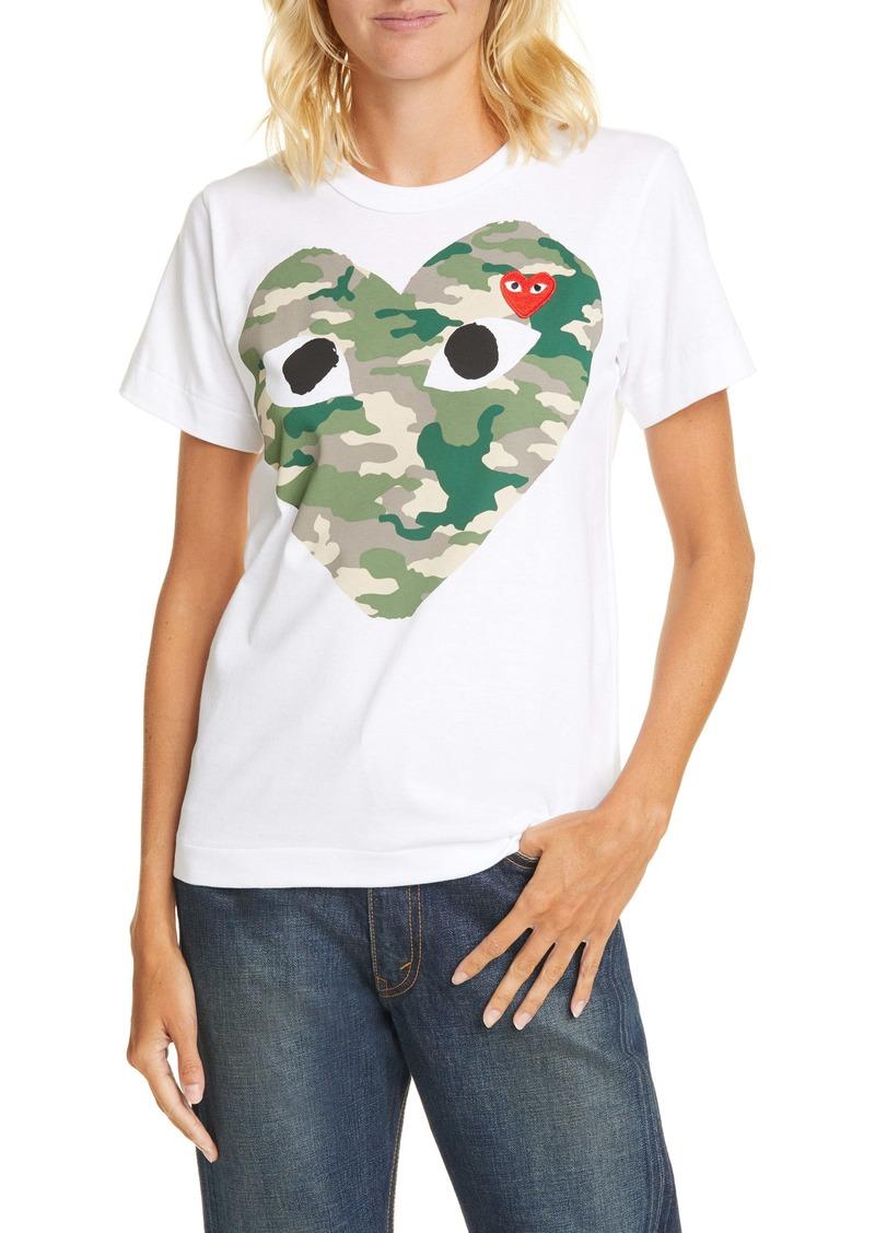 Comme des Garçons PLAY Camouflage Heart Tee