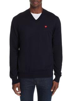 Comme des Garçons PLAY Cotton Logo Sweater