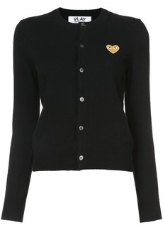 Comme Des Garçons Play embroidered heart cardigan - Black