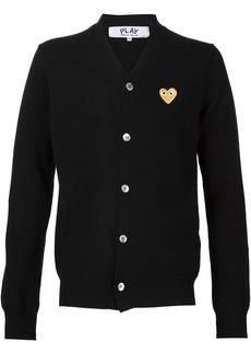Comme des Garçons embroidered heart cardigan