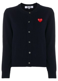 Comme Des Garçons Play Embroidered heart cardigan - Blue
