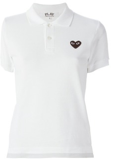 Comme Des Garçons Play embroidered heart polo shirt - White