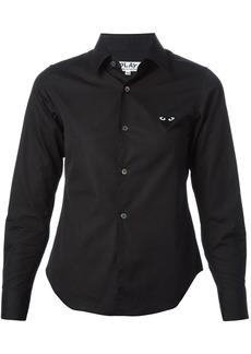 Comme Des Garçons Play embroidered heart shirt - Black
