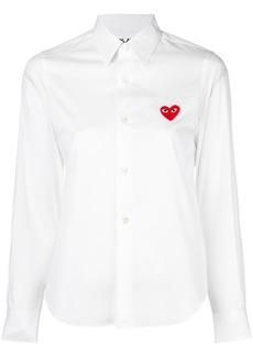 Comme des Garçons embroidered heart shirt