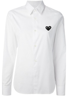 Comme Des Garçons Play embroidered heart shirt - White