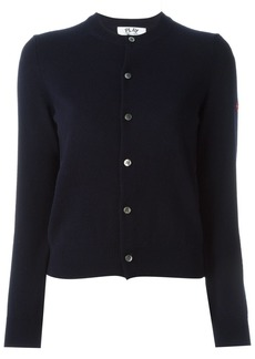 Comme Des Garçons Play embroidered logo cardigan - Blue