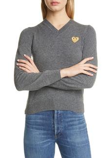 Comme des Garçons PLAY Golden Heart Logo Wool Sweater