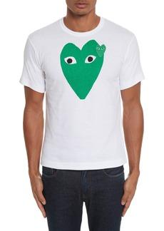 Comme des Garçons PLAY Green Heart Graphic