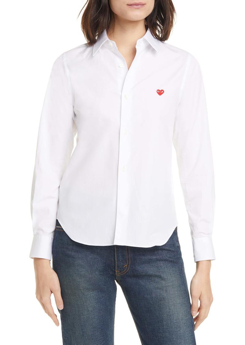 Comme des Garçons PLAY Heart Cotton Shirt