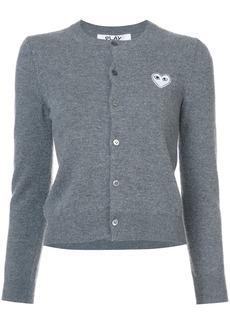 Comme Des Garçons Play heart embellished cardigan - Grey