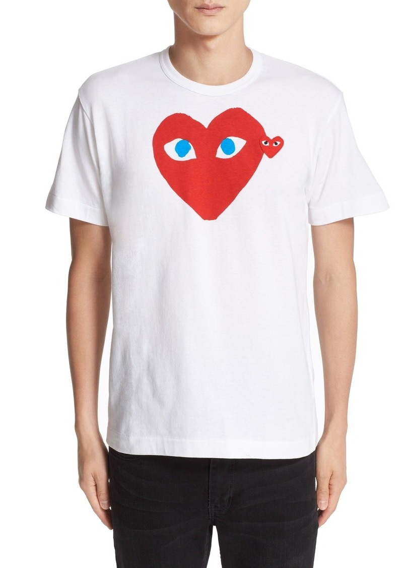 Comme des Garçons PLAY Heart Face Slim Fit Graphic T-Shirt