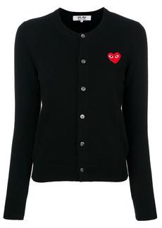 Comme Des Garçons Play heart logo cardigan - Black
