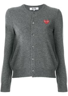 Comme Des Garçons Play heart logo cardigan - Grey
