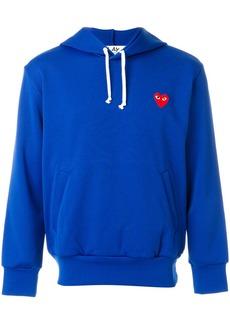 Comme des Garçons heart appliqué hoodie