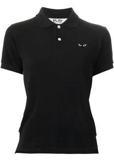 Comme Des Garçons Play heart logo polo shirt - Black