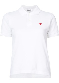 Comme Des Garçons Play heart patch polo shirt - White