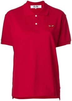 Comme Des Garçons Play heart patched polo shirt - Red