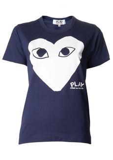 Comme Des Garçons Play heart print T-shirt - Blue