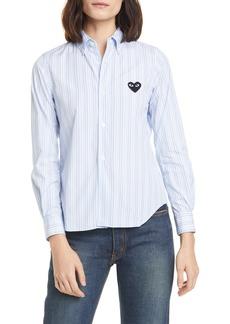 Comme des Garçons PLAY Heart Stripe Cotton Shirt