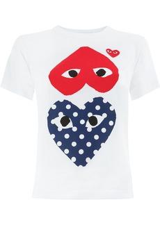 Comme des Garçons hearts print T-shirt