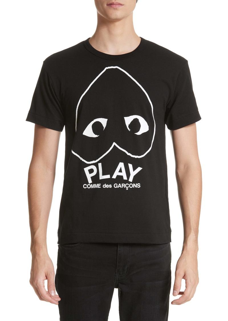 Comme des Garçons PLAY Inverted Heart Slim Fit Logo T-Shirt