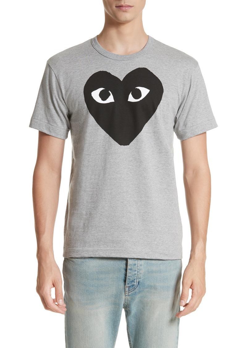 Comme des Garçons PLAY Logo Slim Fit Graphic Crewneck T-Shirt