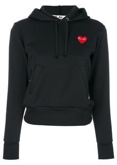 Comme Des Garçons Play logo hoodie - Black