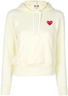 Comme Des Garçons Play logo hoodie - White
