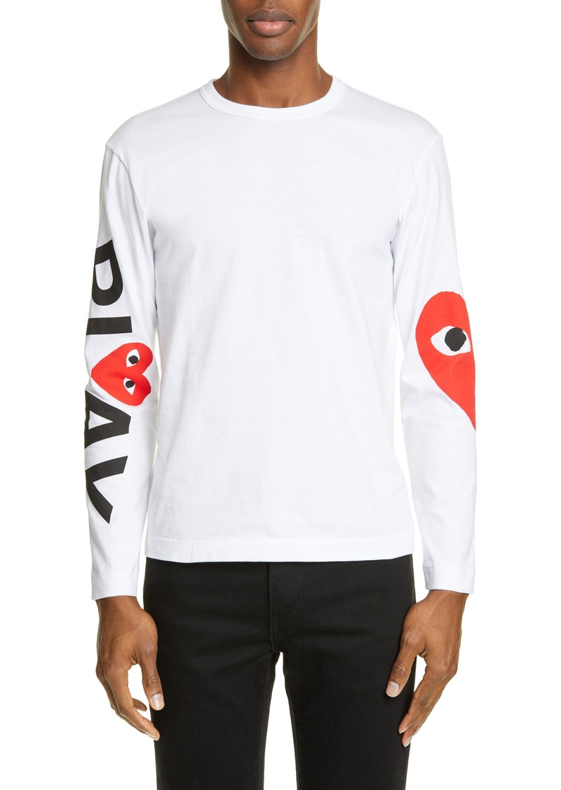 Comme des Garçons PLAY Logo Long Sleeve T-Shirt