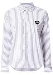 Comme des Garçons logo patch striped shirt