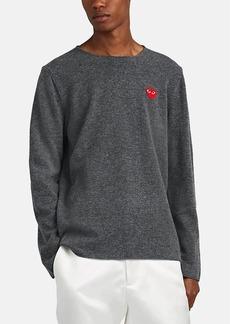 Comme des Garçons PLAY Men's Heart-Patch Wool Sweater