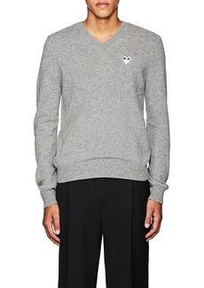 Comme des Garçons PLAY Men's Heart Wool V-Neck Sweater