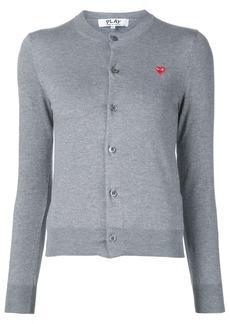 Comme Des Garçons Play mini heart logo cardigan - Grey