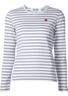 Comme des Garçons mini heart logo striped T-shirt