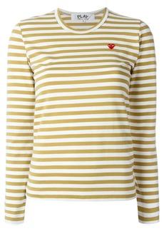 Comme Des Garçons Play mini heart striped T-shirt - Nude & Neutrals