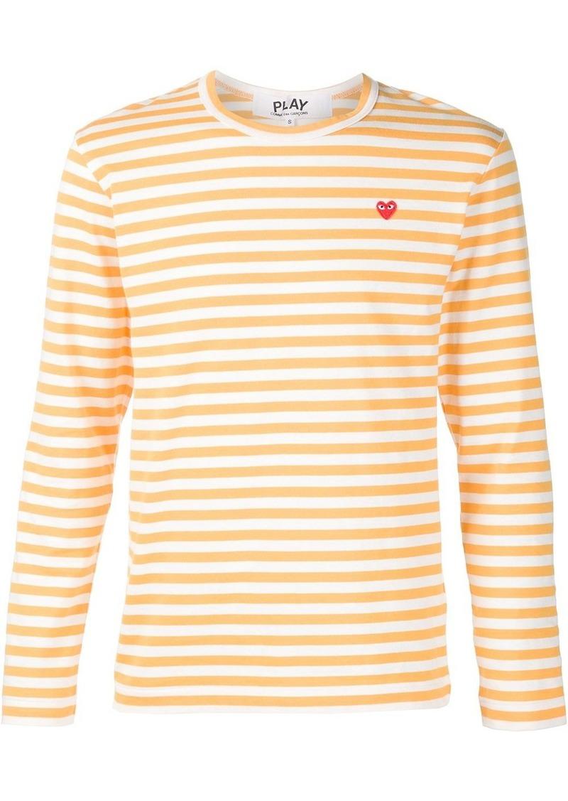Comme des Garçons heart logo striped T-shirt