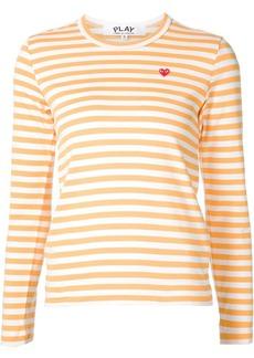 Comme des Garçons mini-heart striped T-shirt