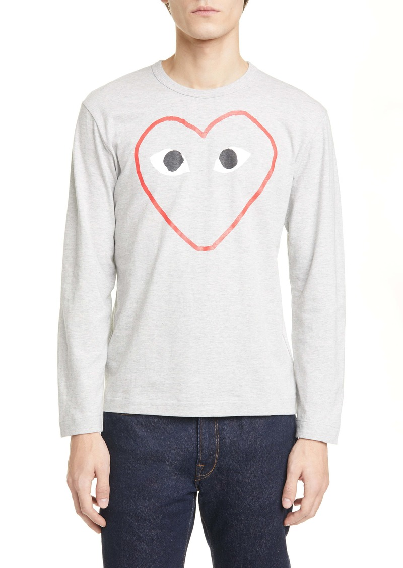 Comme des Garçons PLAY Outline Heart T-Shirt
