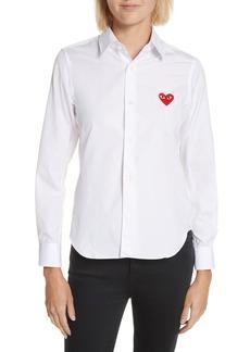 Comme des Garçons PLAY Red Heart Cotton Shirt