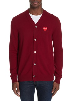Comme des Garçons Play Red Heart Wool Cardigan