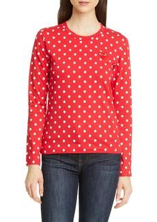 Comme des Garçons PLAY Polka Dot Cotton T-Shirt