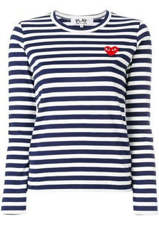 Comme Des Garçons Play striped jumper - Blue