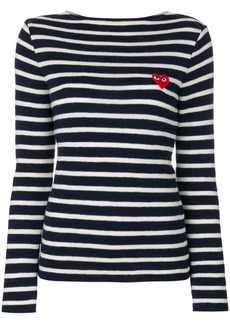 Comme Des Garçons Play striped sweatshirt - Blue