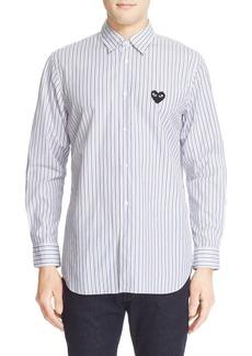 Comme des Garçons PLAY Trim Fit Stripe Sport Shirt