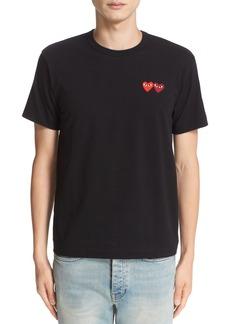 Comme des Garçons PLAY Twin Hearts Slim Fit Jersey T-Shirt